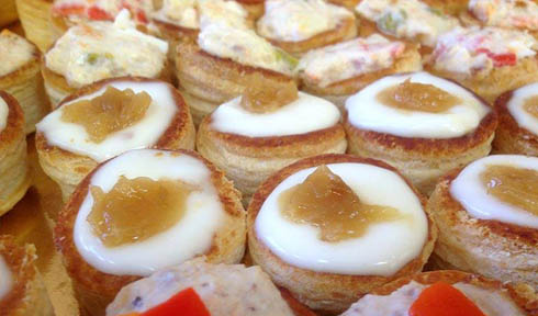 Canapes y Sándwiches, servicio de Catering